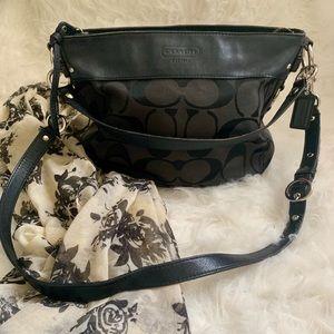 Black Coach Zoe Hobo Bag